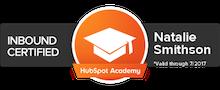 Natalie Smithson: Hubspot Academy - Inbound Marketing Certified